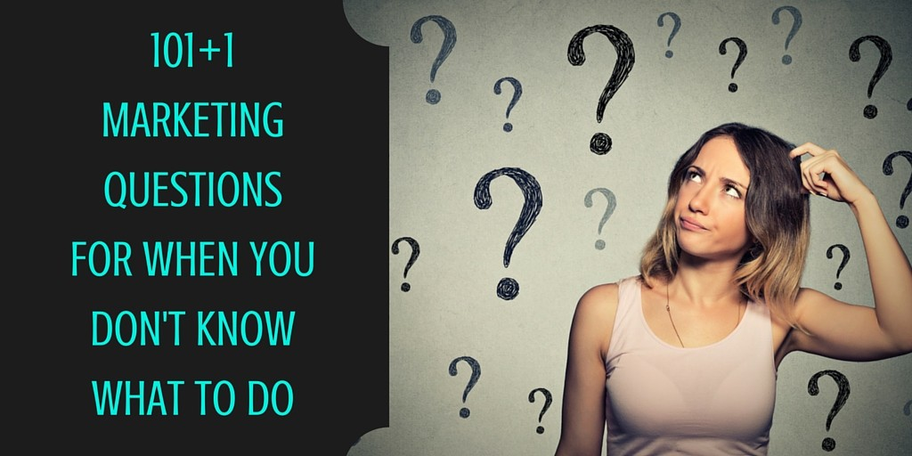 101 Marketing questions