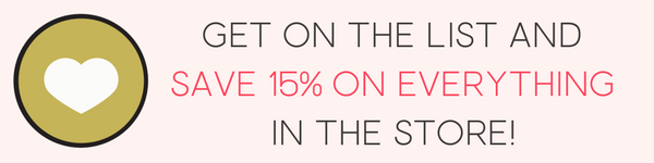 Save 15%! Get on the list. :)