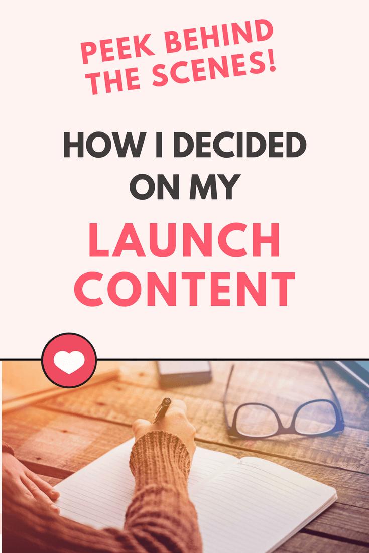 Launch content